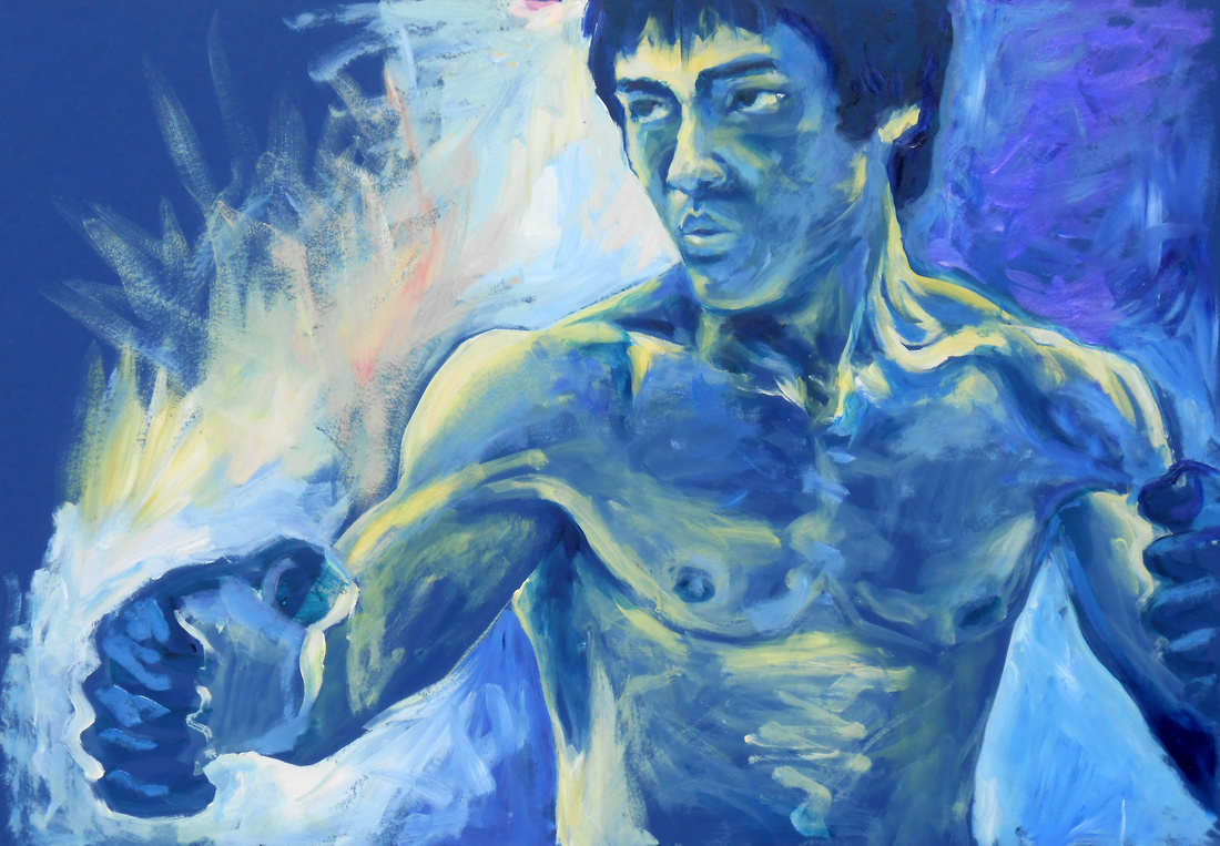 Bruce Lee - 2 hour speed-painting