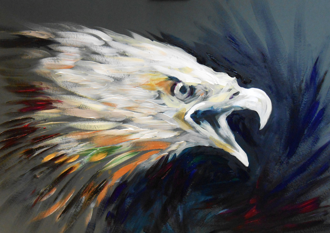 """""""Bald Eagle"""" (25 minute speed-painting)"""