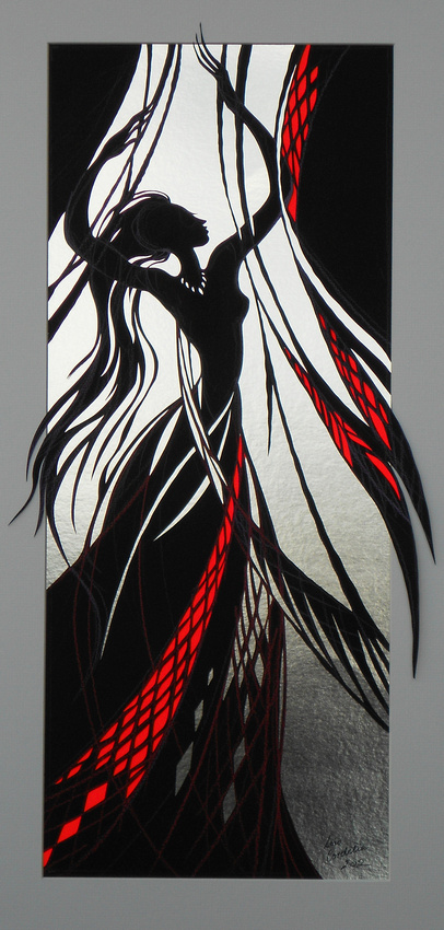 Flame Red Veils