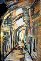 Via Dolorosa, 1 hour speed-painting
