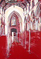2 hour speed-painting of St Peter's Church, Sudbury, Suffolk