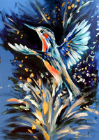 """Kingfisher"" (35 minute speed-painting)"