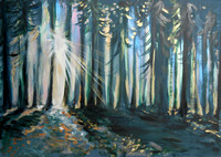 Woodland Sunburst (40 minutes speed-painting)