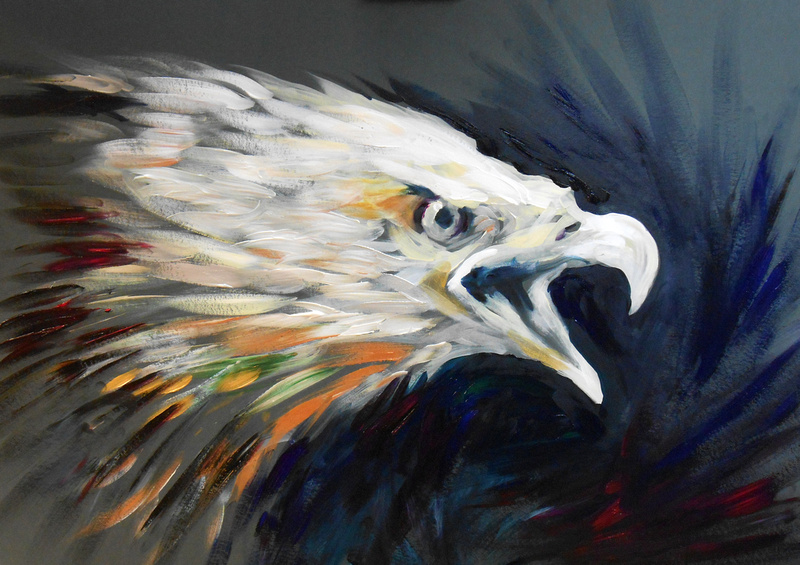 """Bald Eagle"" (25 minute speed-painting)"
