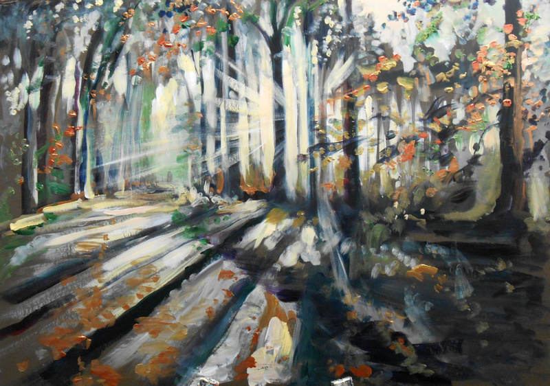Sunlit Woodland (35 minutes speed-painting)