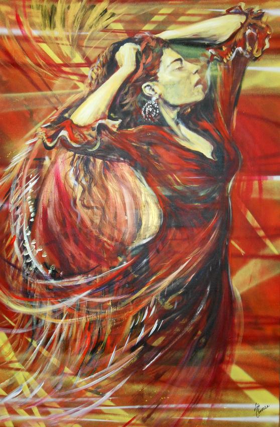 Flamenco Dancer (2 hour speed-painting)