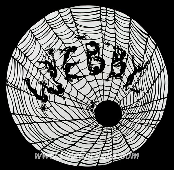 Webby drum-head stencil