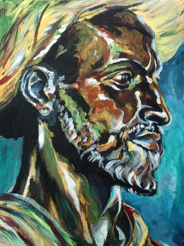 Portrait of a Man wearing a Turban