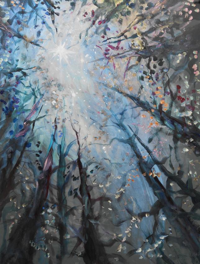 Woodland Night Sky (40 minutes speed-painting)