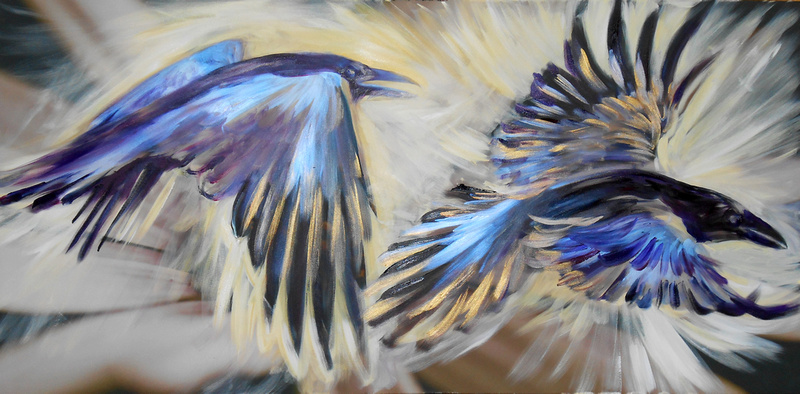 """""""Fly Thought, Fly Memory"""" (35 minutes speed-painting)"""