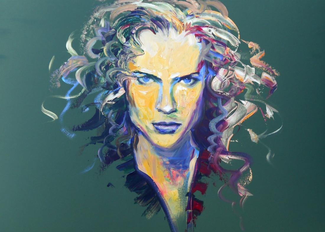 The Glare (45 minute speed-portrait, based on Nicole Kidman)