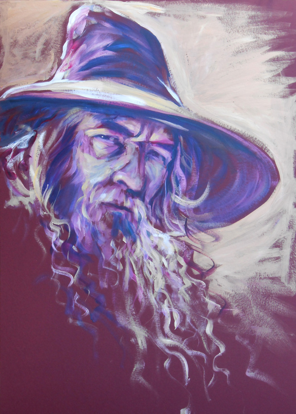 Gandalf (45 minute speed-painting)