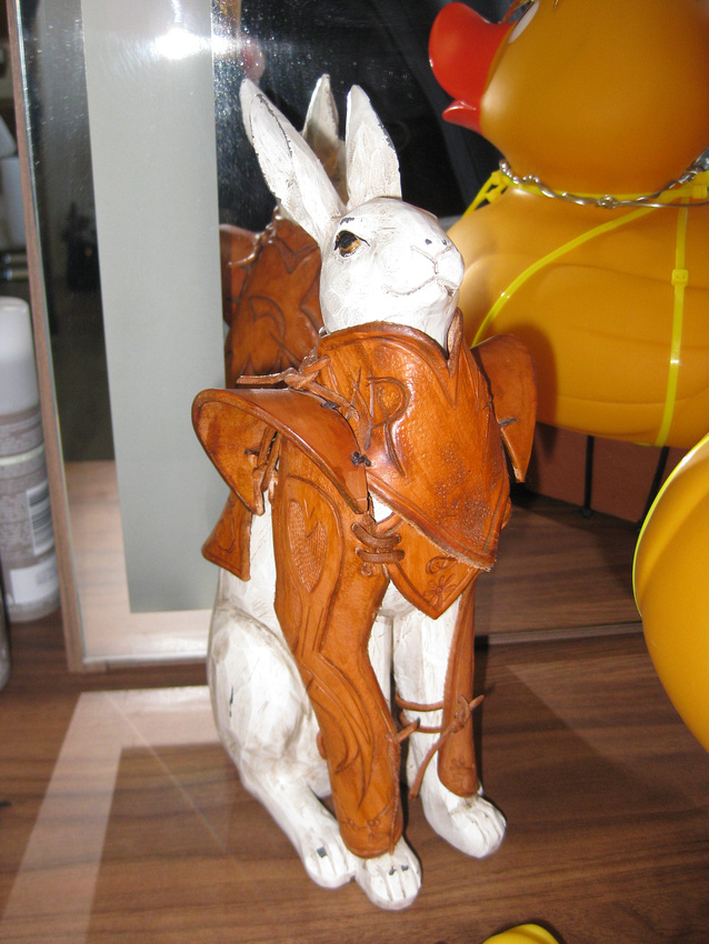Hare in Leather Armour (Armoured White Rabbit)