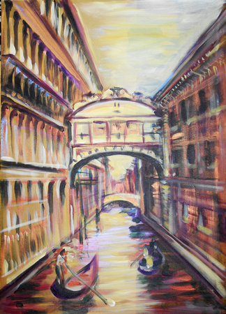 Venice, Bridge of Sighs, 1 hour speed-painting