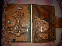 Norse leather phone case